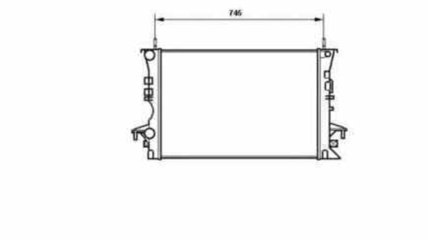 Radiator apa racire motor RENAULT LAGUNA I (B56_, 556_) NRF 58318