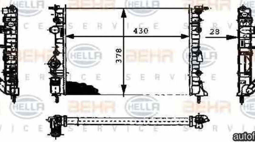 Radiator apa racire motor RENAULT SCÉNIC I JA0/1 HELLA 8MK 376 716-164