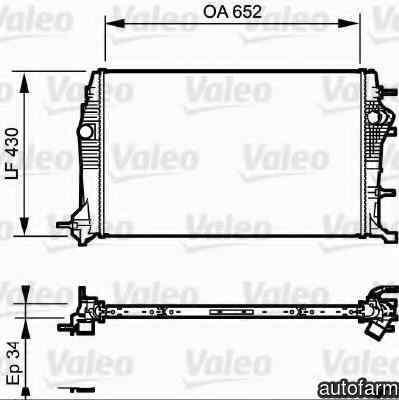 Radiator apa racire motor RENAULT SCÉNIC III (JZ0/1_) VALEO 735181