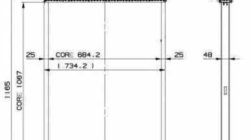Radiator apa racire motor SETRA Series 400 NRF 509885