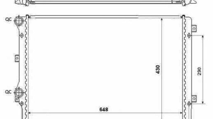 Radiator apa racire motor SKODA SUPERB 3T4 NRF 53816