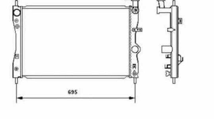 Radiator apa racire motor SMART FORFOUR 454 NRF 53464