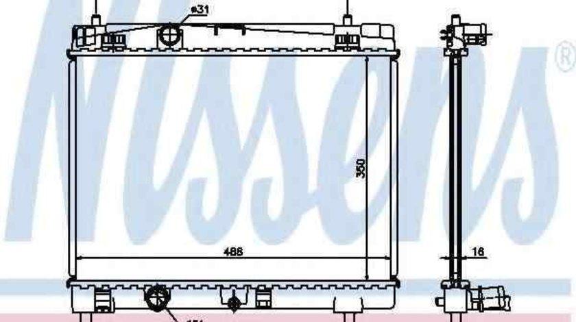 Radiator apa racire motor TOYOTA VIOS/YARIS limuzina (ZSP9_, NCP9_) NISSENS 64671A