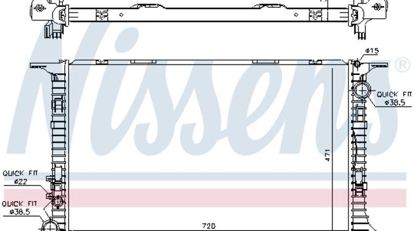 Radiator apa racire motor (transmisie automata/manuala) AUDI A8 4.0 intre 2012-2018