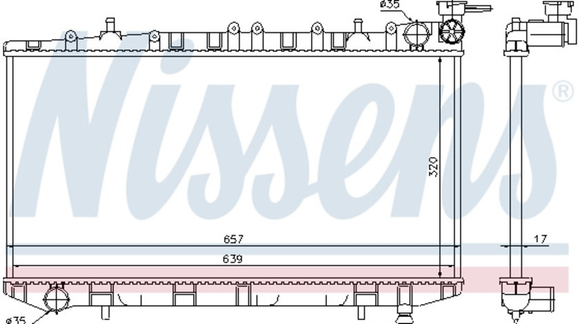 Radiator apa racire motor (transmisie manuala) NISSAN ALMERA I 2.0 2.0 d intre 1995-2000