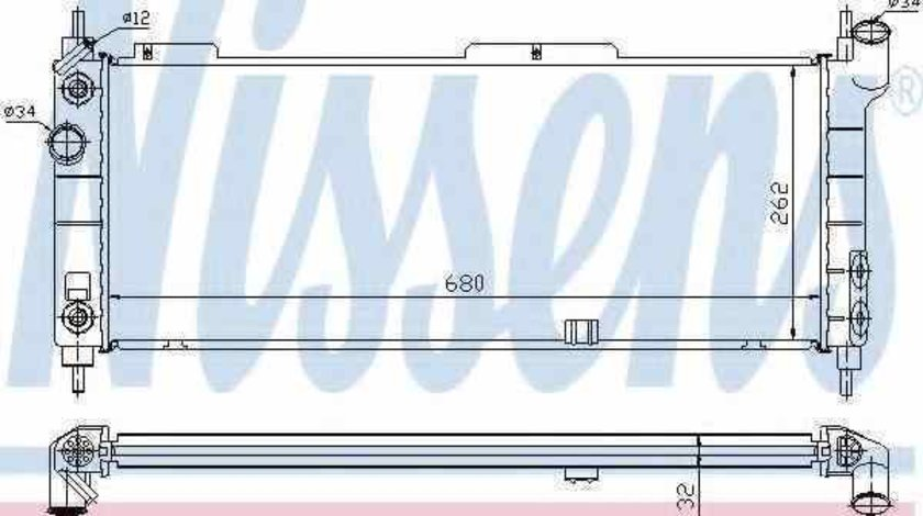 Radiator apa racire motor VAUXHALL TIGRA Mk I F07 Producator NISSENS 632921