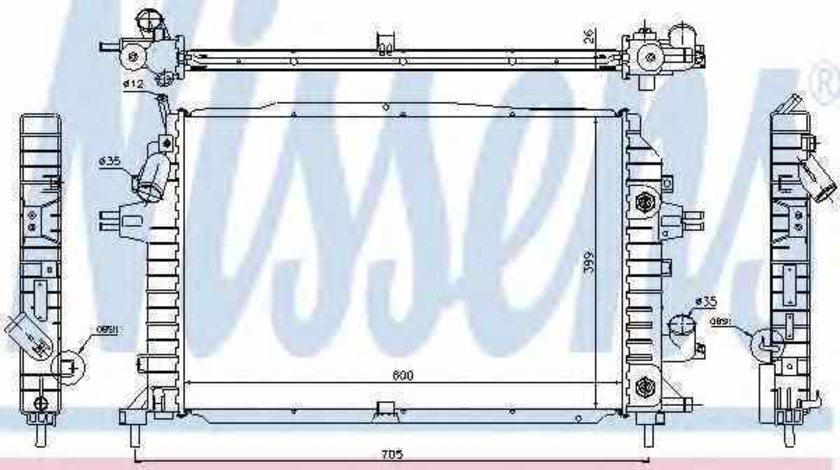 Radiator apa racire motor VAUXHALL ZAFIRA Mk II B M75 Producator NISSENS 63115A