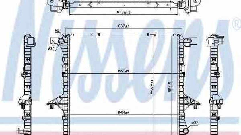 Radiator apa racire motor VW AMAROK 2H S1B Producator NISSENS 65298