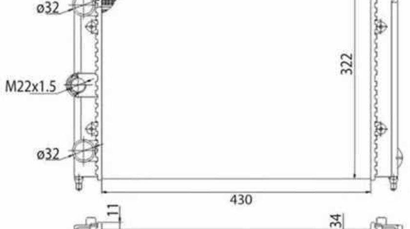 Radiator apa racire motor VW JETTA I 16 MAGNETI MARELLI 350213201003