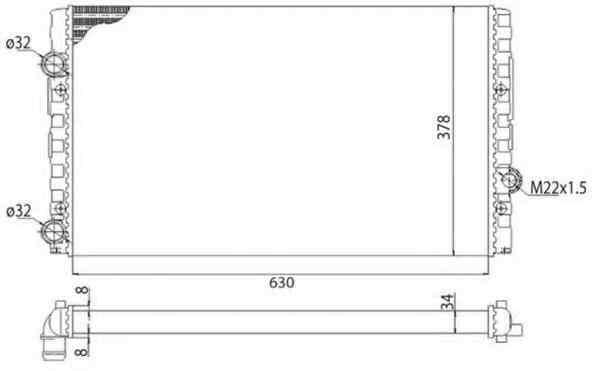 Radiator apa racire motor VW VENTO 1H2 MAGNETI MARELLI 350213793003