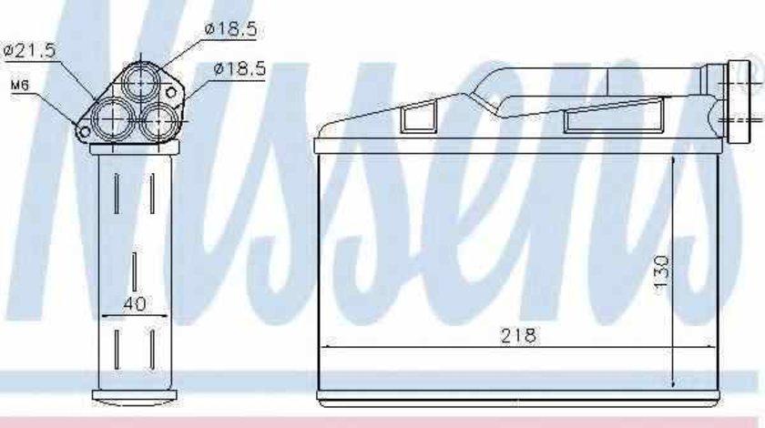 Radiator calorifer caldura BMW X5 E53 Producator NISSENS 70530