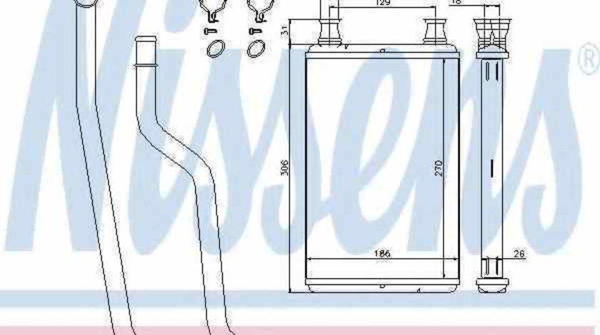 Radiator calorifer caldura CHRYSLER 300 C Touring (LX) NISSENS 70978
