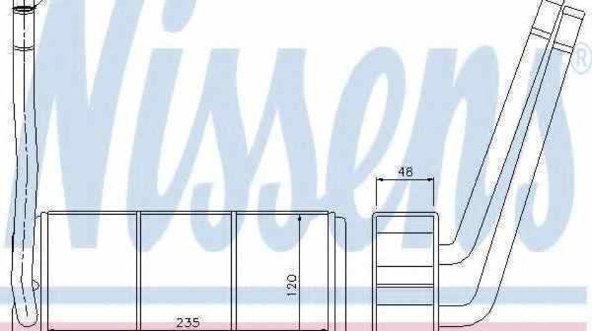 Radiator calorifer caldura LAND ROVER FREELANDER Soft Top NISSENS 73001