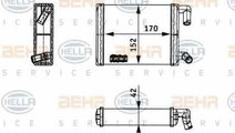 Radiator calorifer caldura MERCEDES-BENZ O 402 HEL...