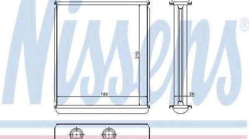 Radiator calorifer caldura OPEL ASTRA G limuzina (F69_) NISSENS 72662