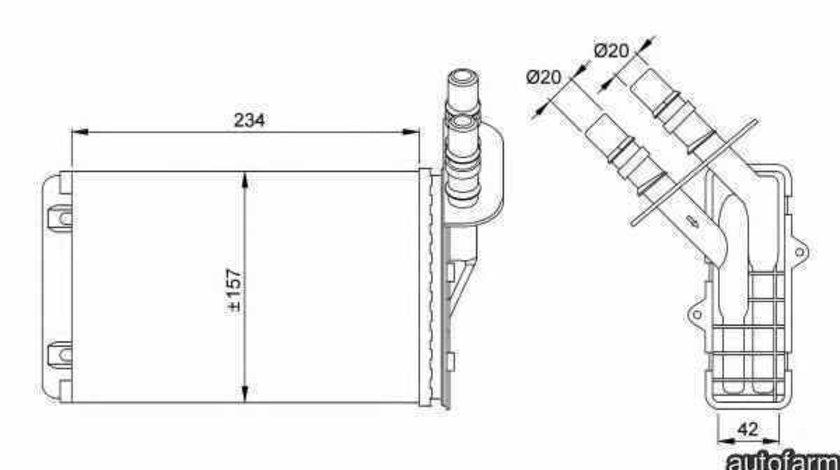 Radiator calorifer caldura RENAULT CLIO II BB0/1/2 CB0/1/2 NRF 53382