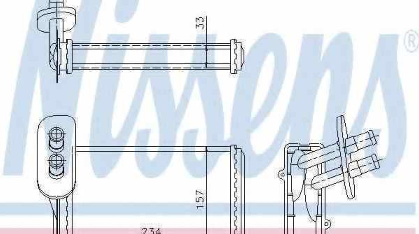 Radiator calorifer caldura VW GOLF II 19E 1G1 Producator NISSENS 73962