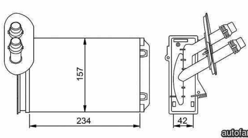 Radiator calorifer caldura VW GOLF IV 1J1 NRF 58223