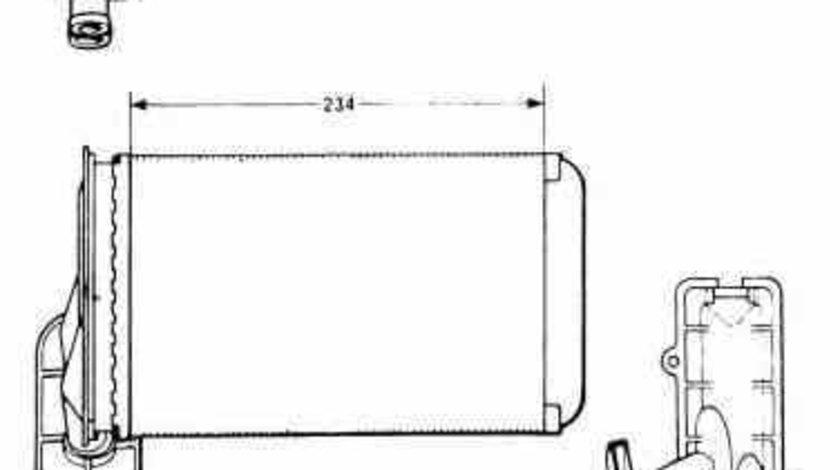 Radiator calorifer caldura VW GOLF IV 1J1 NRF 58622