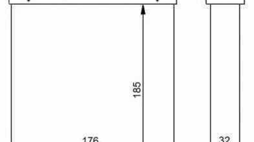 Radiator calorifer caldura VW TOURAN 1T1 1T2 NRF 54271