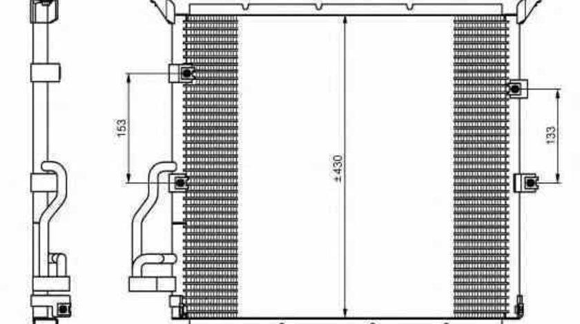 Radiator Clima Aer Conditionat BMW Z3 cupe E36 NRF 35586