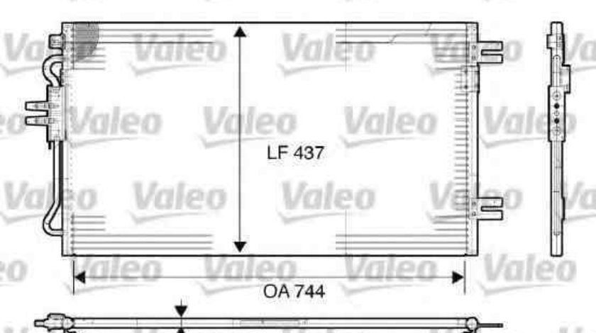 Radiator Clima Aer Conditionat CHRYSLER VOYAGER IV (RG, RS) VALEO 817739