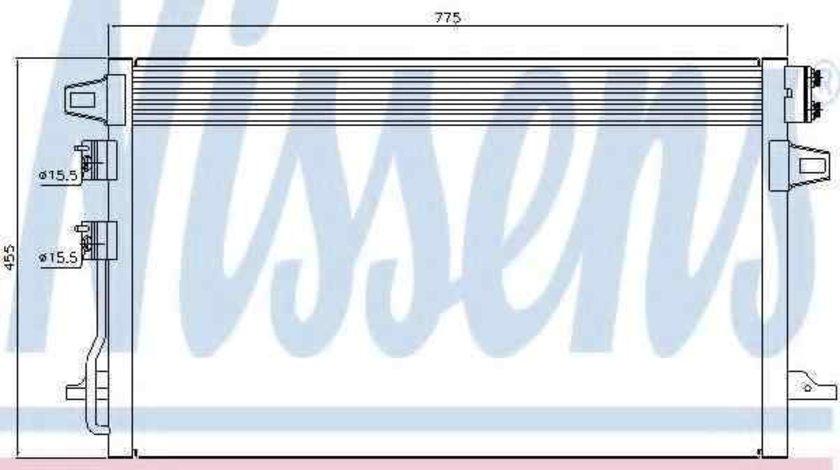 Radiator Clima Aer Conditionat CHRYSLER VOYAGER IV (RG, RS) NISSENS 94929