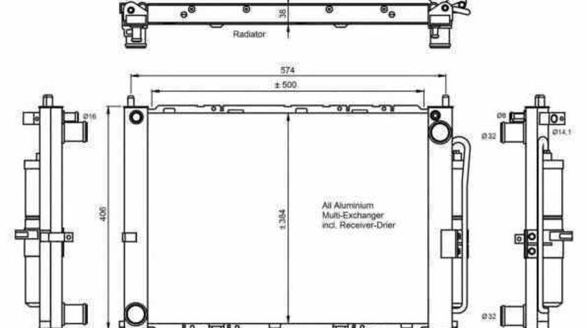 Radiator Clima Aer Conditionat NISSAN MICRA III K12 NRF 350068
