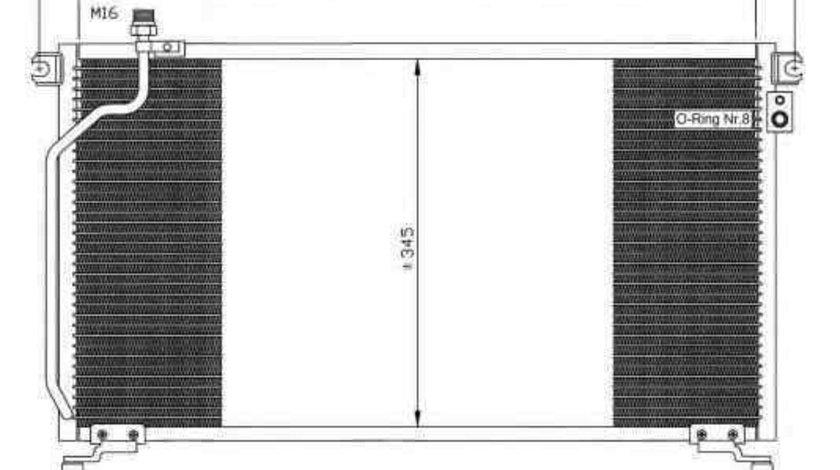Radiator Clima Aer Conditionat NISSAN TERRANO II (R20) NRF 35374