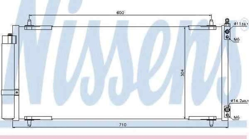 Radiator Clima Aer Conditionat PEUGEOT 607 (9D, 9U) NISSENS 94830