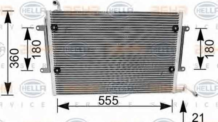 Radiator Clima Aer Conditionat VW GOLF III Cabriolet 1E7 HELLA 8FC 351 036-081