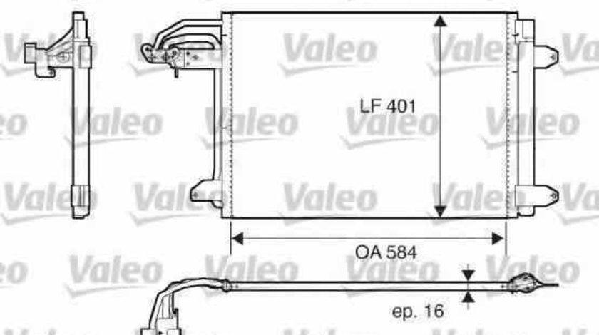 Radiator Clima Aer Conditionat VW JETTA III (1K2) VALEO 817777