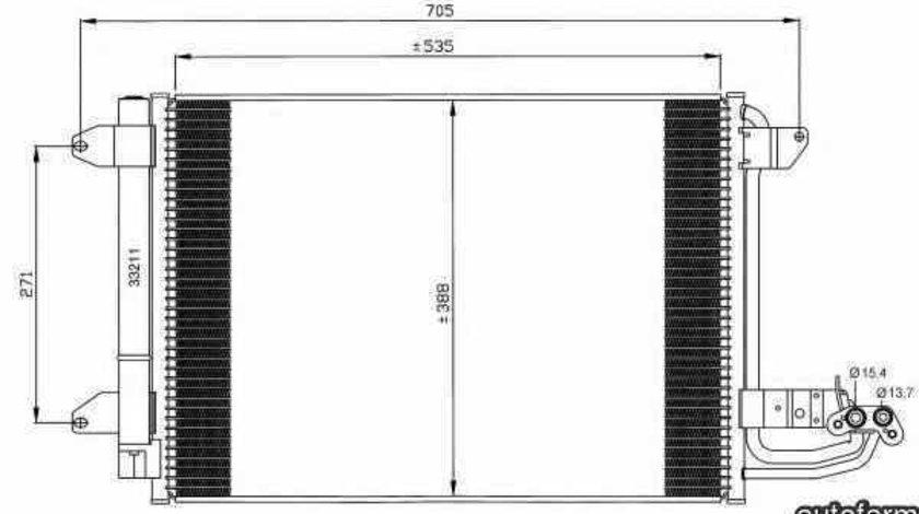 Radiator Clima Aer Conditionat VW JETTA III (1K2) NRF 35520