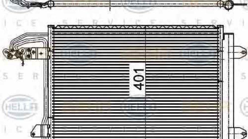 Radiator Clima Aer Conditionat VW JETTA III (1K2) HELLA 8FC 351 301-044