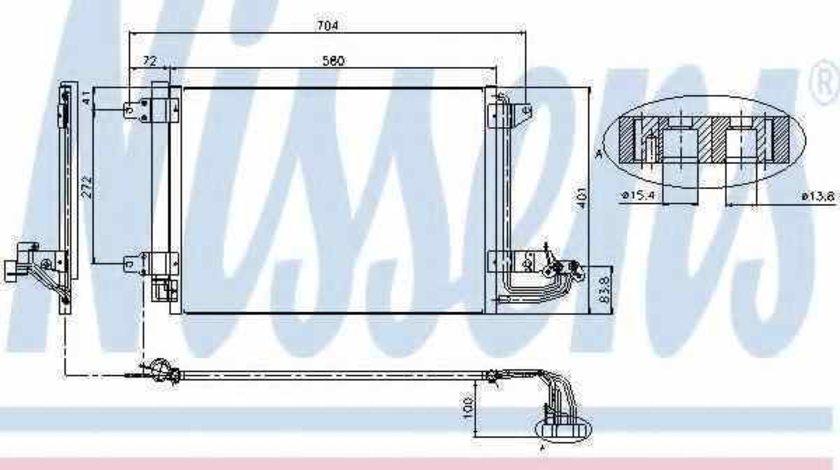Radiator Clima Aer Conditionat VW TOURAN 1T1 1T2 NISSENS 94684