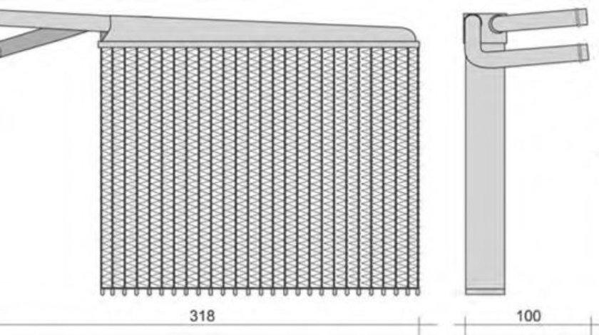 Radiator incalzire interior AUDI A6 (4B2, C5) (1997 - 2005) MAGNETI MARELLI 350218287000 produs NOU