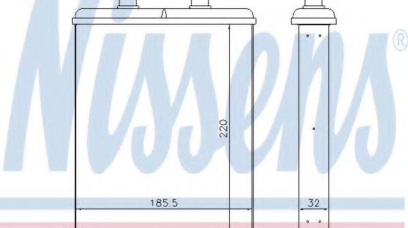 Radiator incalzire interior IVECO DAILY IV platou / sasiu (2006 - 2011) NISSENS 71817 - produs NOU