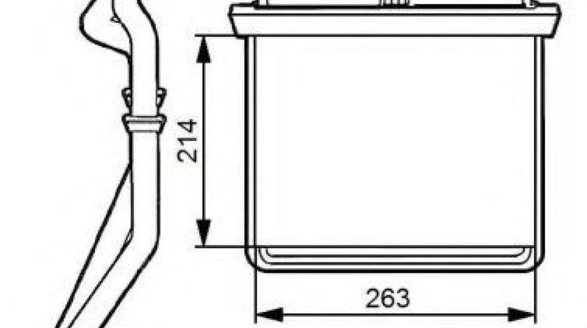 Radiator incalzire interior IVECO DAILY IV platou / sasiu (2006 - 2011) NRF 54215 - produs NOU