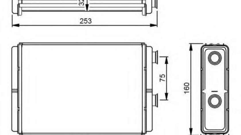 Radiator incalzire interior LANCIA YPSILON (843) (2003 - 2011) NRF 53233 produs NOU