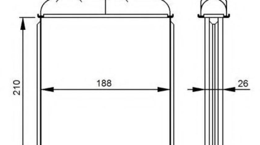 Radiator incalzire interior OPEL ASTRA G Hatchback (F48, F08) (1998 - 2009) NRF 53215 produs NOU