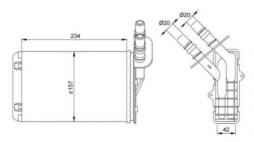 Radiator incalzire interior RENAULT ESPACE IV (JK0/1) (2002 - 2015) NRF 53382 - produs NOU