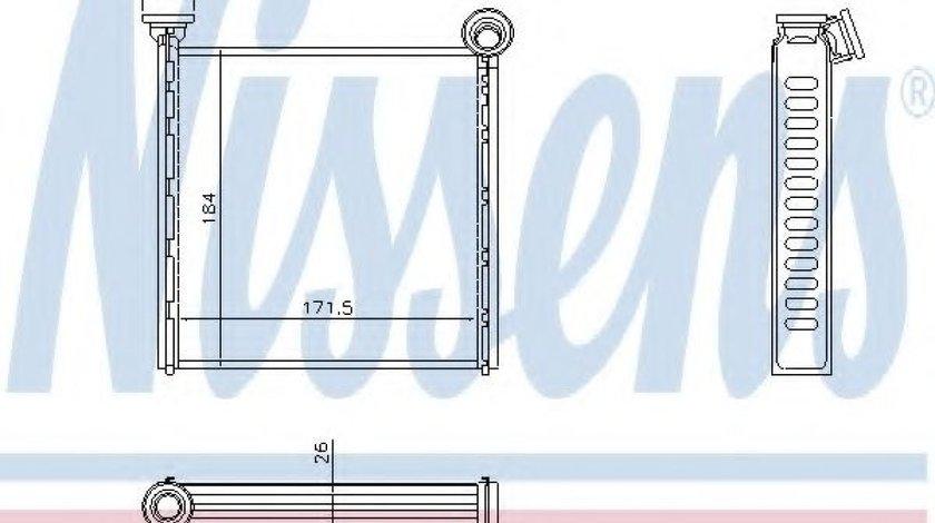 Radiator incalzire interior SKODA SUPERB III Combi (3V5) (2015 - 2016) NISSENS 73980 produs NOU
