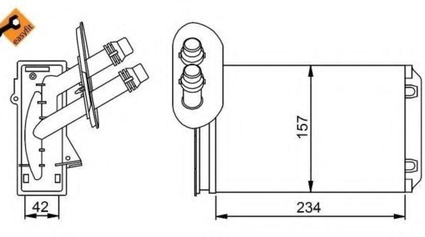 Radiator incalzire interior VW POLO (6N2) (1999 - 2001) NRF 58223 - produs NOU