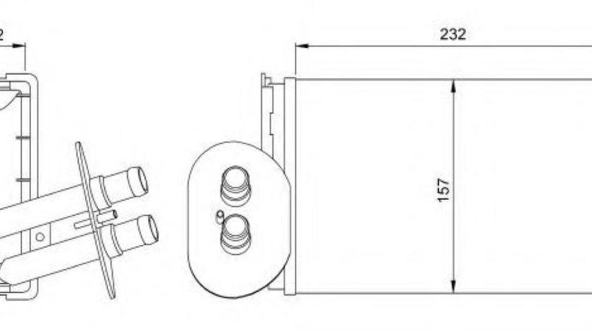 Radiator incalzire interior VW TRANSPORTER IV platou / sasiu (70XD) (1990 - 2003) NRF 54247 produs NOU