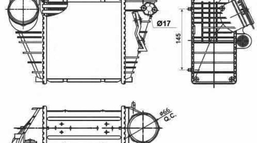 Radiator intercooler AUDI A3 8L1 NRF 30838