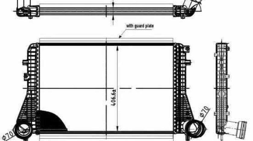 Radiator intercooler AUDI TT Roadster 8J9 NRF 30454