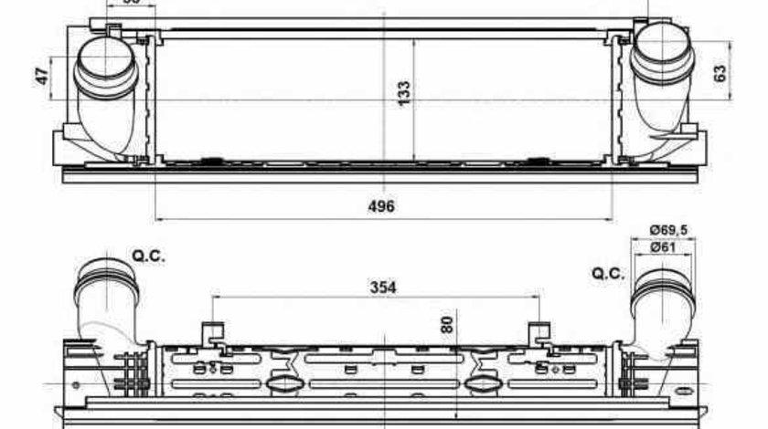Radiator intercooler BMW 3 F30 F35 F80 NRF 30482