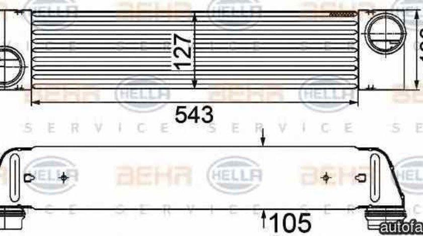 Radiator intercooler BMW 5 E60 HELLA 8ML 376 746-501