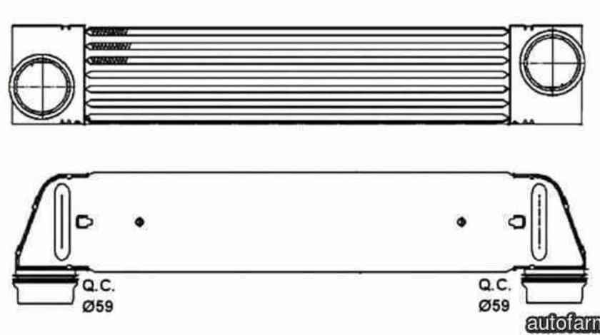 Radiator intercooler BMW 5 E60 NRF 30317