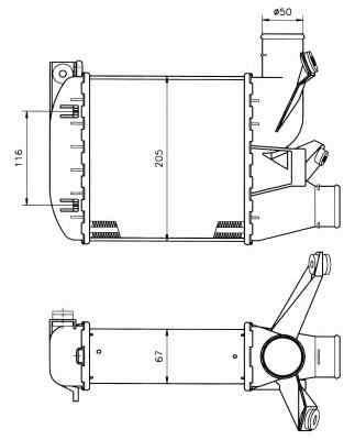 Radiator intercooler BMW Seria 5 (E39) NRF 30121